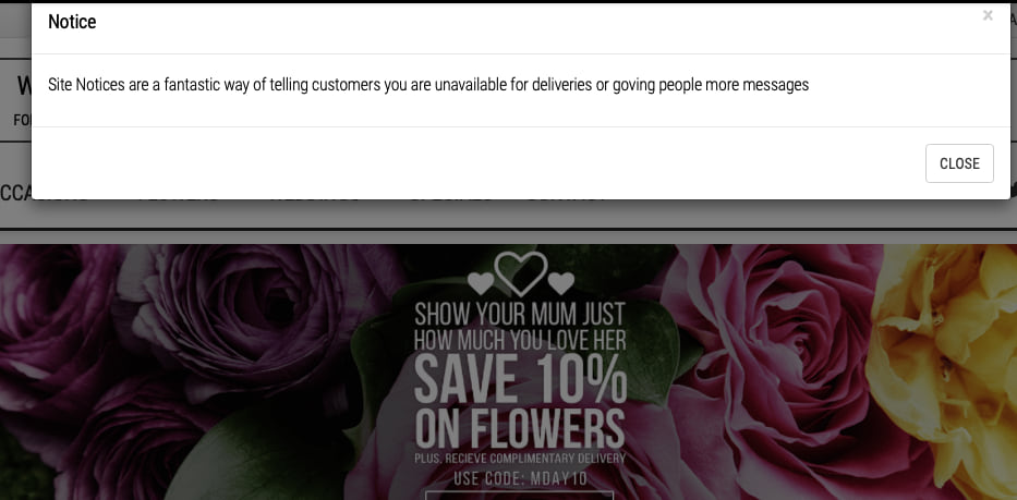 Site Notices - Flower Store In a Box