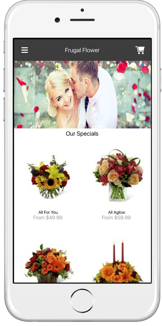 Iphone application for florist website