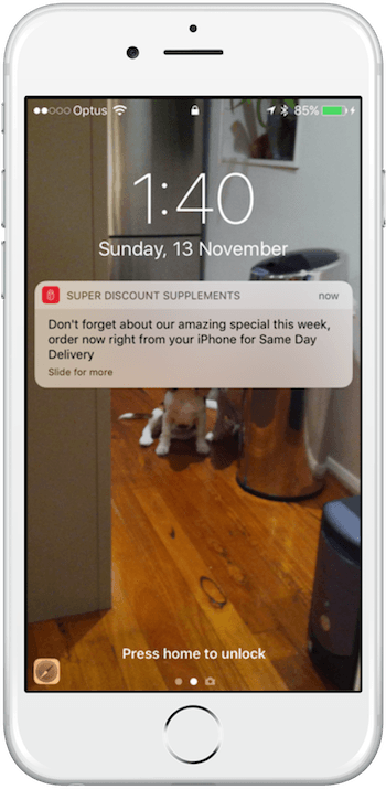 iPhone App - Notifications