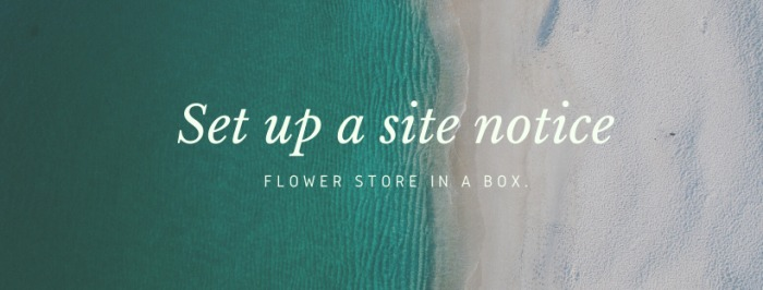 Setting a Site Notice Pop Up