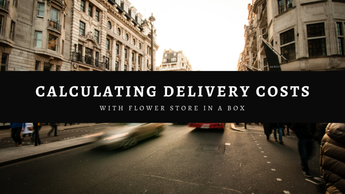 Calculating Delivery Costs and Delivery Times