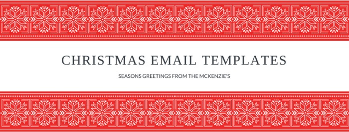 2017 Christmas Email Templates