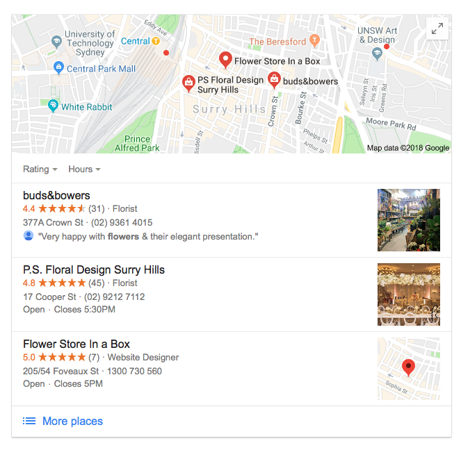 Local Google Star Reviews