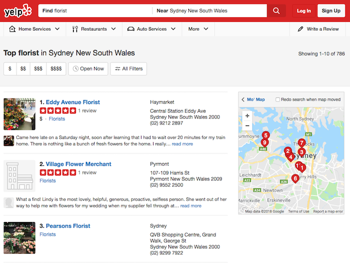 Reviews by Yelp
